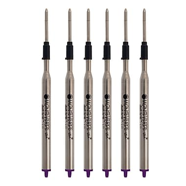 Monteverde® Medium Ballpoint Refill For Lamy Ballpoint Pens, 6/Pack, Purple