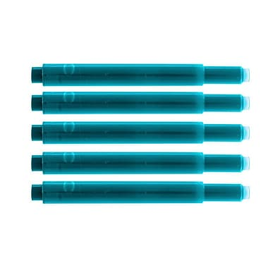 Monteverde® International Size Cartridge For Lamy Fountain Pens, 5/Pack, Turquoise