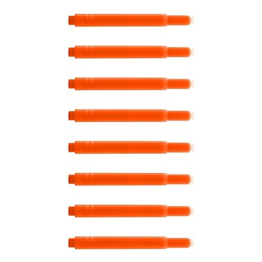 Monteverde® International Size Cartridge For Lamy Fountain Pens, 8/Pack, Fluorescent Orange