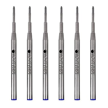 Monteverde® Medium Ballpoint Refill For Montblanc Ballpoint Pens, 6/Pack, Blue
