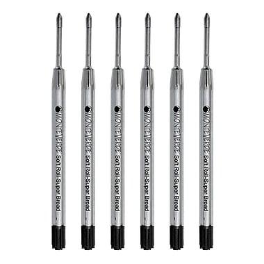 Monteverde® Superbroad Ballpoint Refill For Parker Ballpoint Pens, 6/Pack, Black