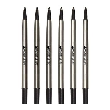 Monteverde® Fine Rollerball Refill For Parker Rollerball Pens, 4/Pack, Black