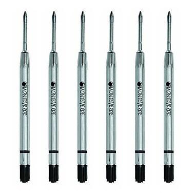 Monteverde® Fine Gel Ballpoint Refill For Parker Gel Ballpoint Pens, 6/Pack, Black