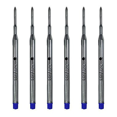 Monteverde® Medium Ballpoint Refill For Sheaffer Ballpoint Pens, 6/Pack, Blue