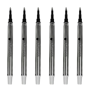 Monteverde® Fine Rollerball Refill For Sheaffer Rollerball Pens, 4/Pack, Black