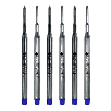 Monteverde® Fine Gel Ballpoint Refill For Sheaffer Gel Ballpoint Pens, 6/Pack, Blue