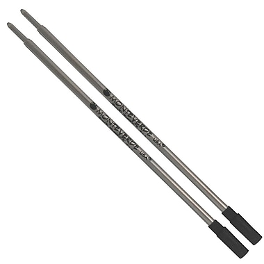 Monteverde® Medium Ballpoint Refill For Dupont Ballpoint Pens, 2/Pack, Black