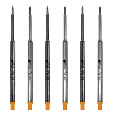 Monteverde® Medium Ballpoint Refill For Waterman Ballpoint Pens, 6/Pack, Orange
