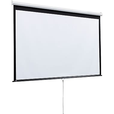 Draper® 207187 109in. Luma Manual Wall Ceiling Projection Screen With Auto Return, 16:10, White Casing