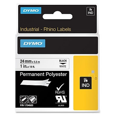 Dymo® 1734523 White Permanent Poly Label