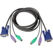 Iogear® Micro-Lite™ 10' Bonded All-in-One PS/2 KVM Cable, Black