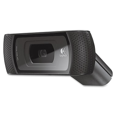 Logitech® B910 HD USB 2.0 Webcam For Computer, Black