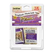 Brother® TZEAF231 Black on White Acid-Free Tape
