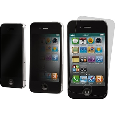 3M™ Privacy Screen Protector For Apple iPhone 4/4S (Portrait/Matte), Black