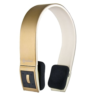 Syba CL-AUD23039 Bluetooth Wireless Headset With Microphone, Champagne/White