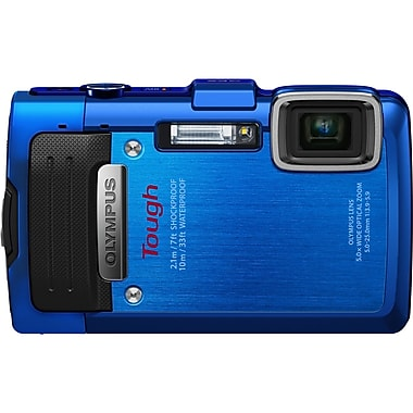Olympus Tough Compact Digital Camera, 16.8 Mega Pixels, Blue