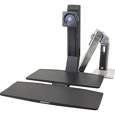 Ergotron® WorkFit-A Dual Monitor Stand With Worksurface+ For 24in. Monitor