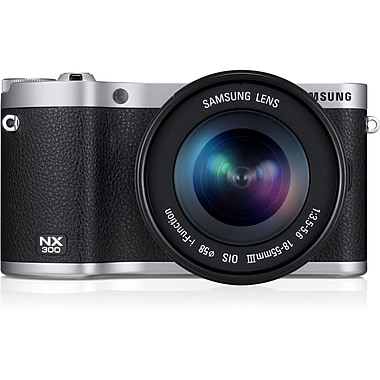 Samsung NX300 Smart Camera With 18 - 55 mm Lens, 20.3 Mega Pixels, Black