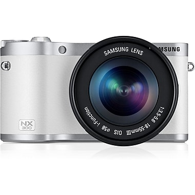 Samsung NX300 Smart Camera With 18 - 55 mm Lens, 20.3 Mega Pixels, White