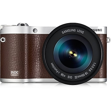 Samsung NX300 Smart Camera With 18 - 55 mm Lens, 20.3 Mega Pixels, Brown