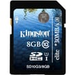 Kingston® Elite 8GB SDHC (Secure Digital High Capacity) Class 10/UHS-I Flash Memory Card