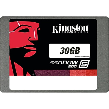Kingston® SSDNow 30GB SATA 3.0 Solid State Drive