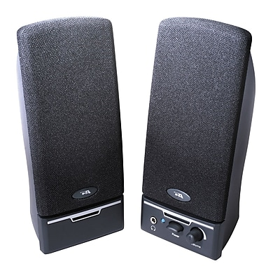 Cyber Acoustics CA-2014RB Black 2.0 Powered Speaker System