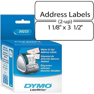 "Dymo® 700CT White 2UP 1-1/8"" X 3-1/2"" Address Label"