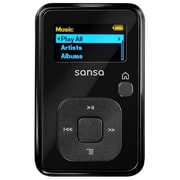 SanDisk® Sansa Clip Plus 4GB Black Flash MP3 Player With Built-in FM Radio