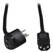Tripp Lite 6' Piggyback 5-15P/C13 Standard Power Cord, Black