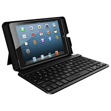 Zagg® Folio Keyboard/Cover Case For 7in. Keyboard and iPad Mini, Black