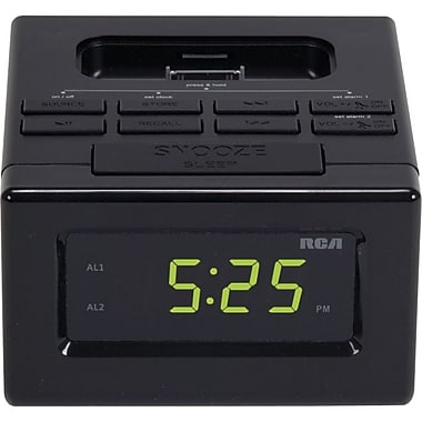 Audiovox RCA Clock Radio Docking Station For iPhone and iPod