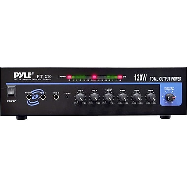 Pyle® PT210 120W Microphone PA Mono Amplifier With 70 V Output and Mic Talkover