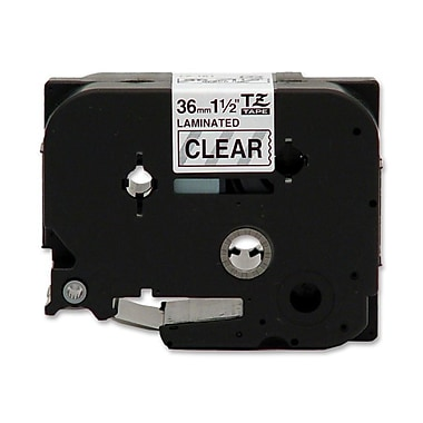 Brother® TZE161 Black on Clear Label Tape