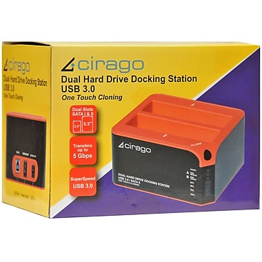 Cirago® SuperSpeed USB 3.0 Dual Hard Drive Docking Station