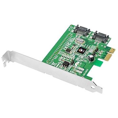 Siig® DP SATA 6Gb/s 2-Port Hybrid PCIe SATA Controller