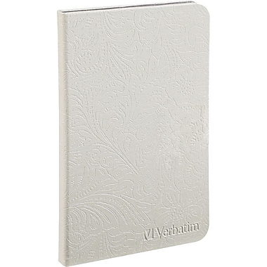 Verbatim® Folio Carrying Case For 8.9in. Tablet, Pearl White