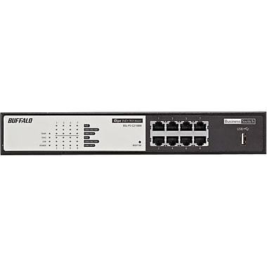 Buffalo™ BSL-PS-G2108M Managed Gigabit Ethernet Switch, 8 Ports