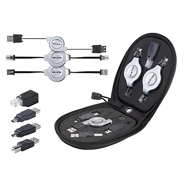Belkin® 7-in-1 Retractable Cable Travel Pack