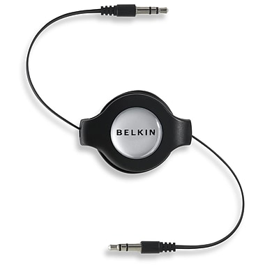 Belkin™ F3X1980-4.5 4.5' Retractable Car Stereo Cable, Black