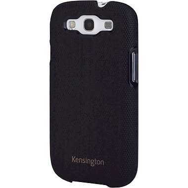 Kensington® Vesto™ Leather Texture Case For Samsung Galaxy S III, Black Diamond