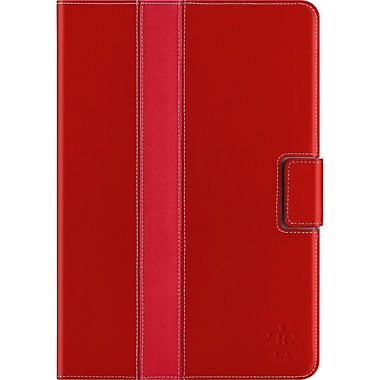 Belkin™ Striped Cover With Stand For iPad Mini, Red Carpet