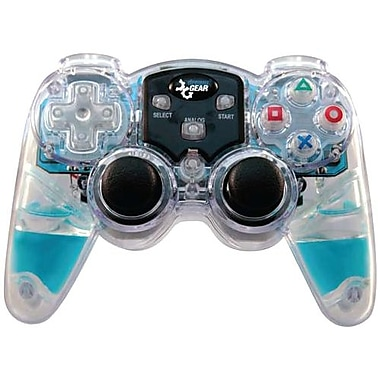 DreamGEAR® DGPN-524 Lava Glow Wireless Controller For PS 2, Blue
