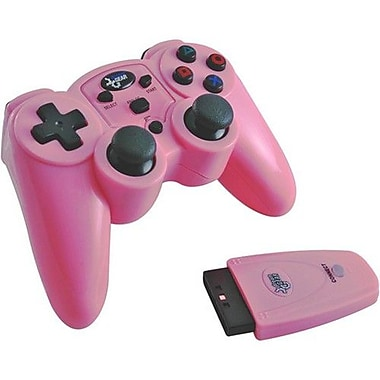 DreamGEAR® i.Sound DGPN-558 Magna Force Wireless Controller For PS 2, Pink