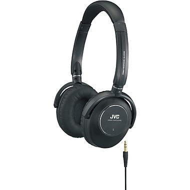 JVC HANC250 Noise Canceling Headphones, Black