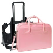 McKlein® Willowbrook W Series Detachable Wheeled Ladies' Briefcase For 17 Laptops, Pink