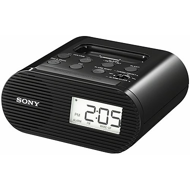 Sony Alarm Clock FM Radio With Dock For iPod/iPhone, Black