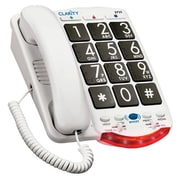 Clarity JV-35B Amplified Corded Office Telephone, White