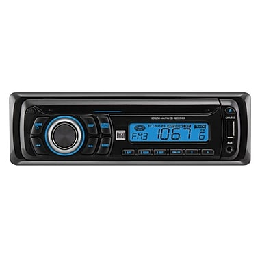 Dual® XD5250 In-Dash AM/FM Receiver Wih Front Panel Aux Input and USB Charging Port