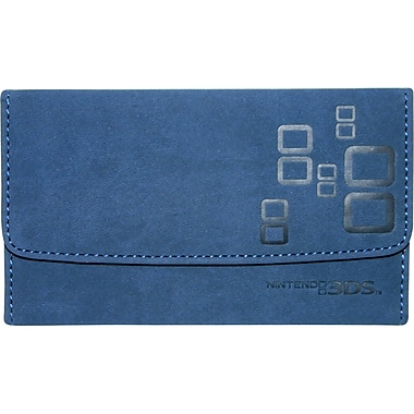 Mad Catz® NOV257340N04/04/1 Microsuede Wallet For Nintendo 3DS, Blue